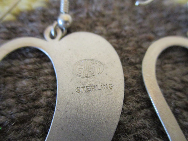 10507 New GIST SILVERSMITHS Sterling Silver Heart Earrings
