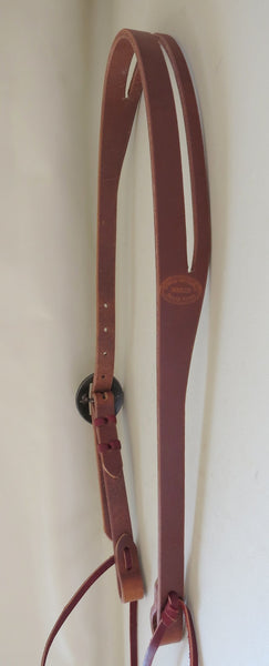 "New Handmade GRUMPY OLD COWBOY Dark Heavy Harness ¾"" Slot Ear Headstall STEPHEN WHITE Buckle"