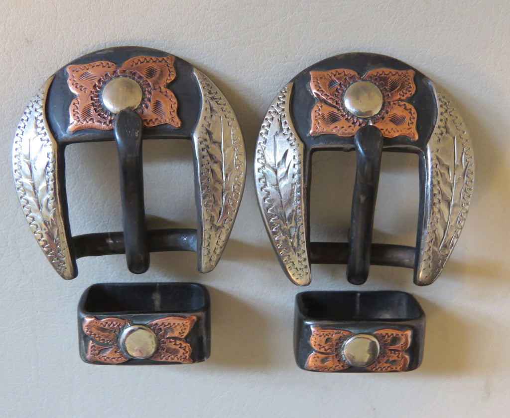 "Pair New Handmade DAVID HUNT ¾"" Spur Strap or Headstall Buckles"