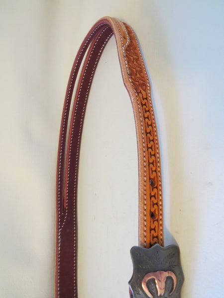 "New Handmade ¾"" BRANDON BLEVINS Headstall STEPHEN WHITE Buckle"