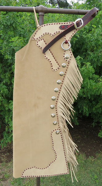 8632 New Handmade GRUMPY OLD COWBOY Buckstitched Step In Chaps
