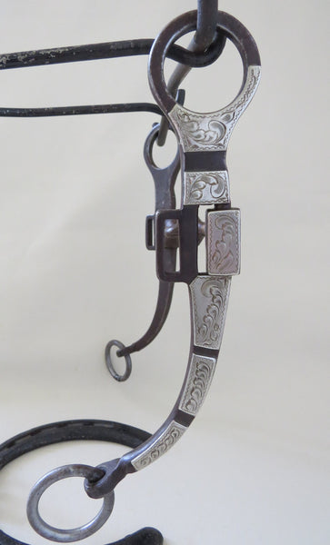 8634 CAMPBELL #7633 Silver Mounted Snaffle Bit