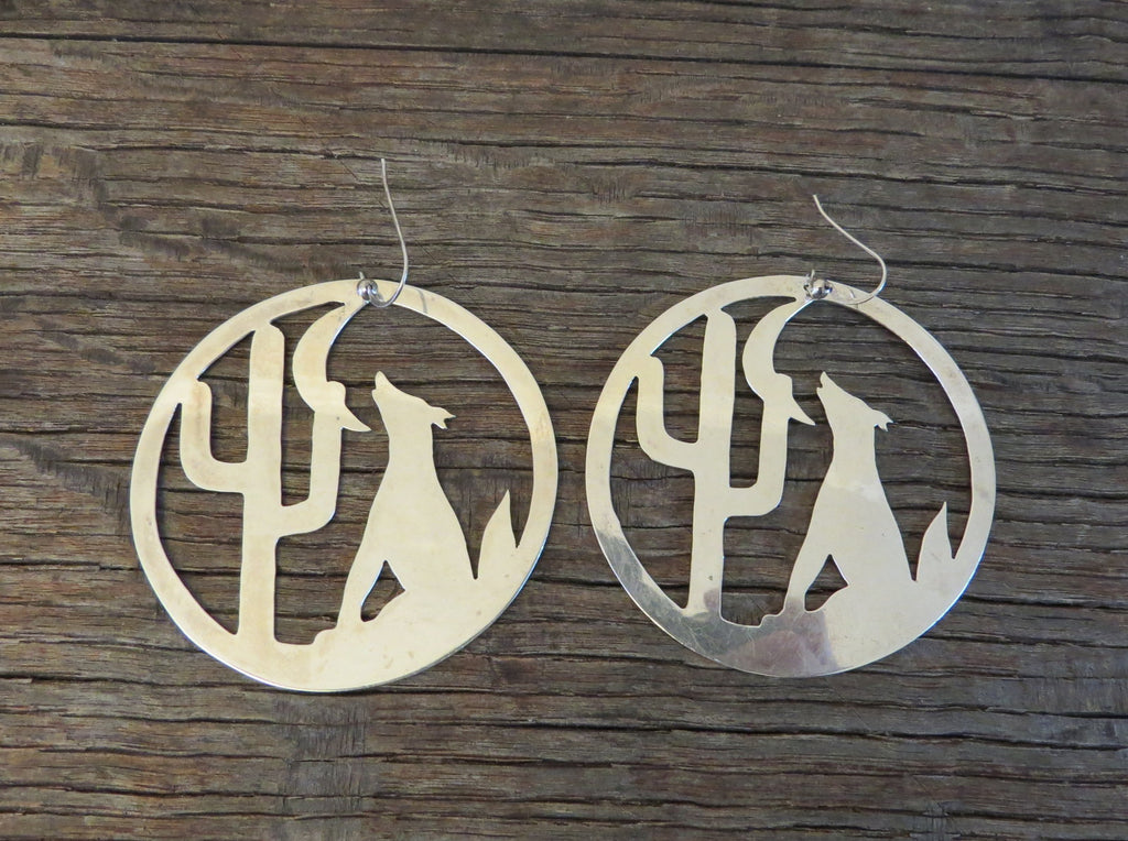 fa78d32ff 9372 Handmade RANDY BUTTERS Big Sterling Silver Earrings – Must Fish Western  Tackle