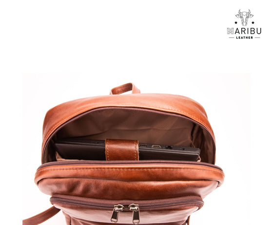Genuine Leather Laptop Backpack - Made in SA - Affordable Prices