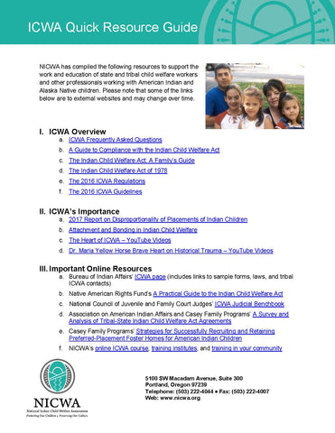ICWA Quick Resource Guide