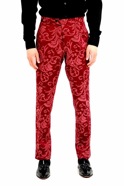Majesty Red Printed Pants