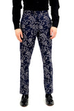 Majesty Blue Printed Pants