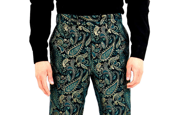 Royal Floral Print Pants