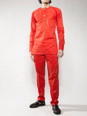 Orange Kaftan Shirt