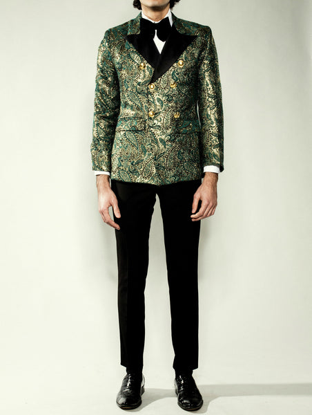 Royal Floral Print Evening Jacket