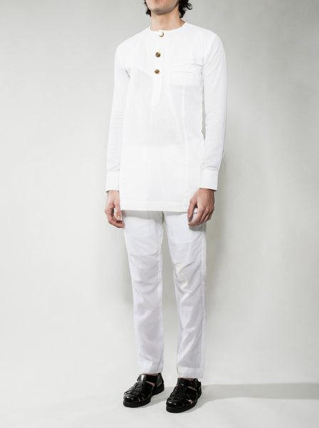 White Kaftan Shirt
