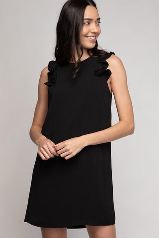 Georgia Ruffle Detail Dress