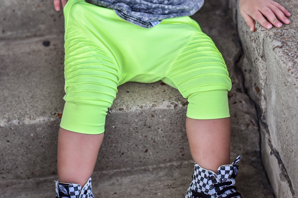 Biker Shorts- Neon Yellow