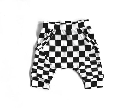 Biker Joggers- Blue Checker