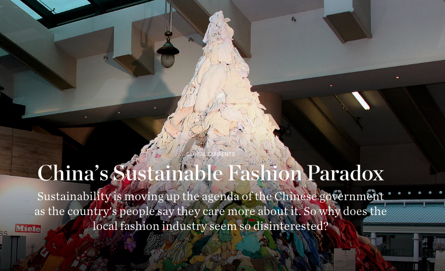 China's Sustainable Fashion Paradox