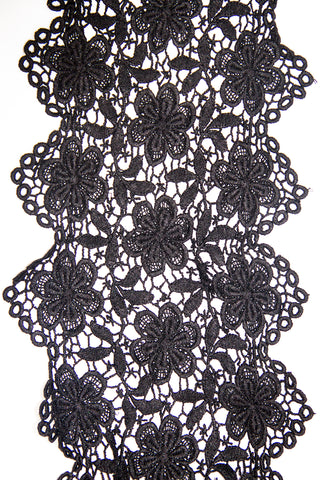 Guipure Lace - Black