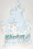 Blue Floral Frill Children's Apron