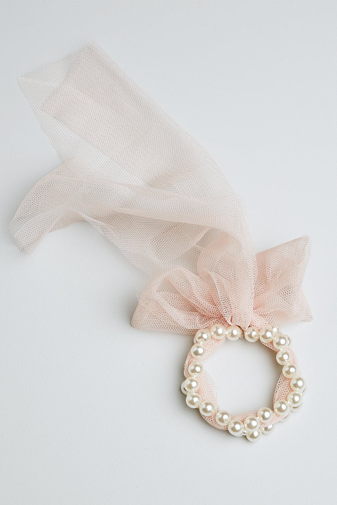 Pearl and Tulle Children's Bracelet