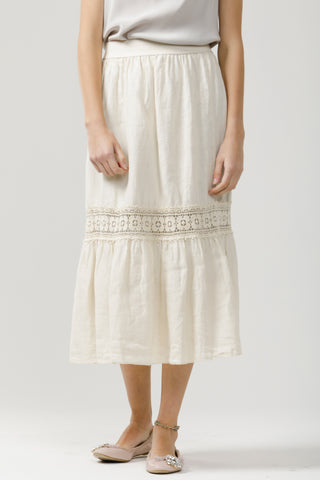 Short Capri Skirt - Pure Linen