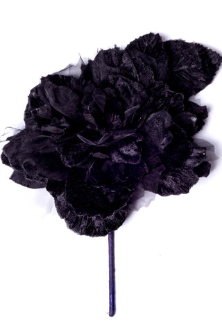 Cabbage Rose Black