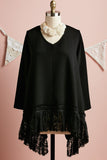Ebony Lace edged top