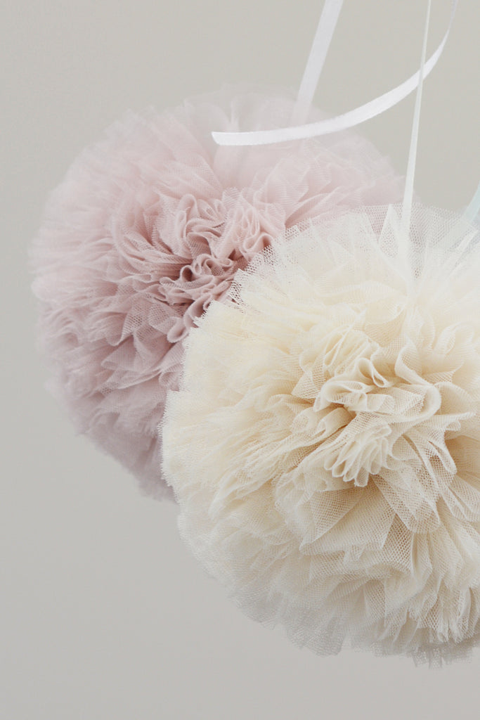Cotton Candy Pom Poms - Large