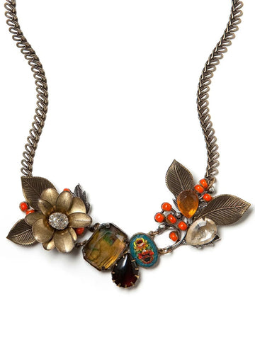 Berry Bloom Statement Necklace