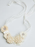 Pearl & Flower Statement Necklace