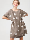 Polka Dot Rosabella Top - Pure Linen Dress/Top