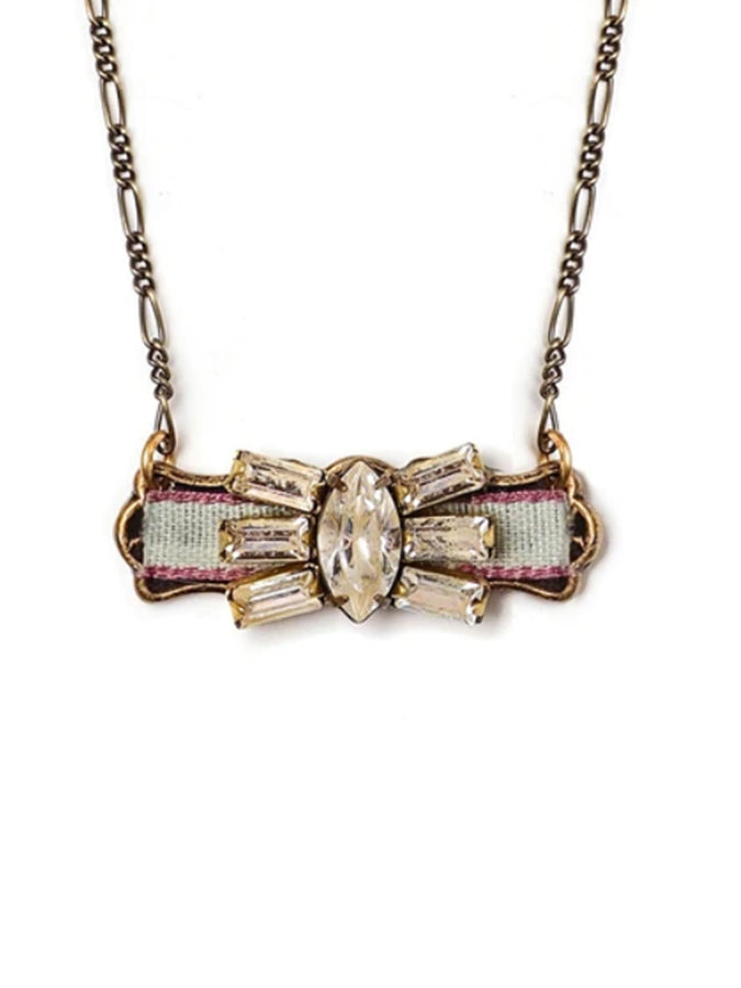 Ines Crystal Bar Necklace