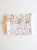 Small Lace zip bags