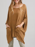 Camille Top - Loose Fit Natural Fibre casual top