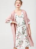 FLORAL MIA DRESS - Pure linen day dress