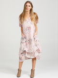 Floral Primavera Dress - Long Pure Linen Dress