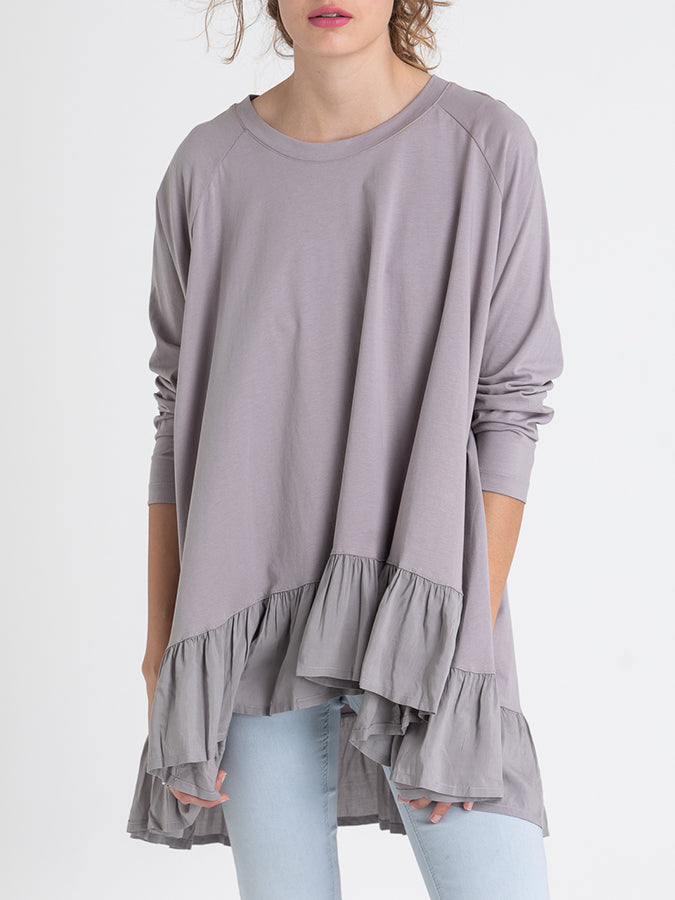 Stretch Ruffle Casual Top