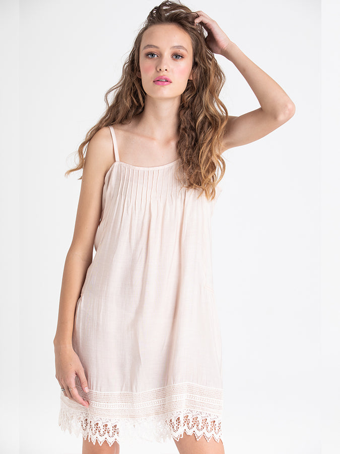 Cotton Silk Lace Edged Camisole