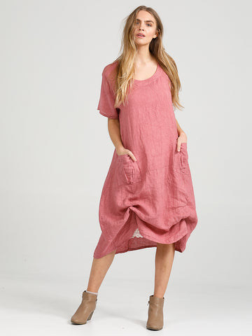 Plain Primavera Dress - Long Pure Linen Dress