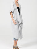 Sabine Coat - Pure Linen Open Coat