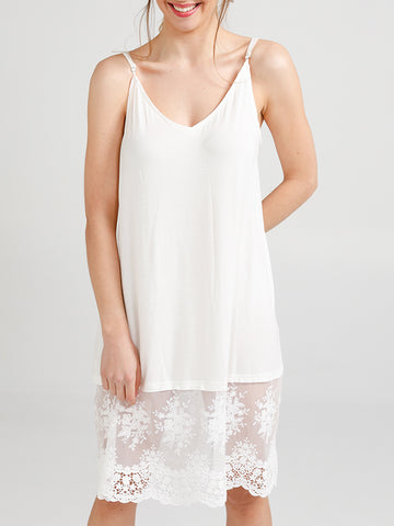 Cotton and Lace Slip