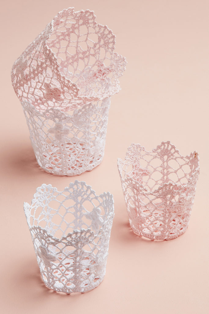 Lace Storage Pots - Large