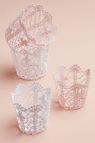 Lace Storage Pots - Small
