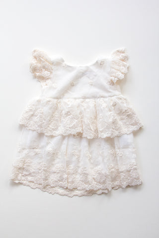 Lace Baby Dress - CREAM