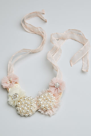 Pearl and Sparkle Necklace (Pink)