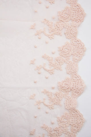 Scalloped Floral Lace - Soft Pink