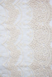 WIDE Cotton Lace - Floral Cream