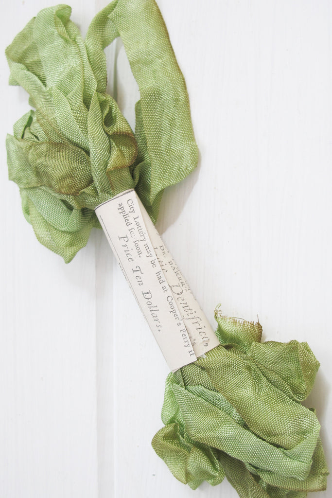 Apple Green Silk Ribbon