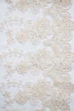 Cotton Lace - Floral Garden Cream