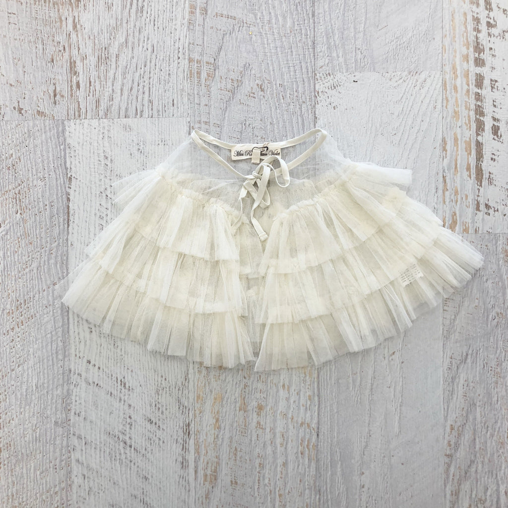 Fairy Tulle Cape - CREAM