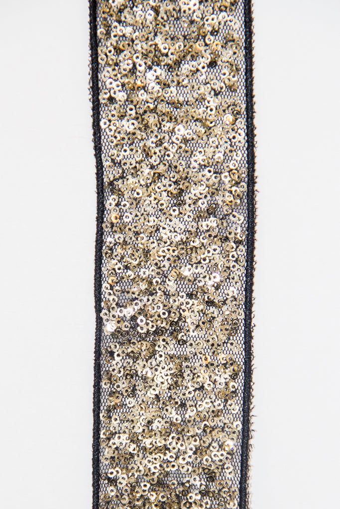 Glitter Sparkle Trim - Black