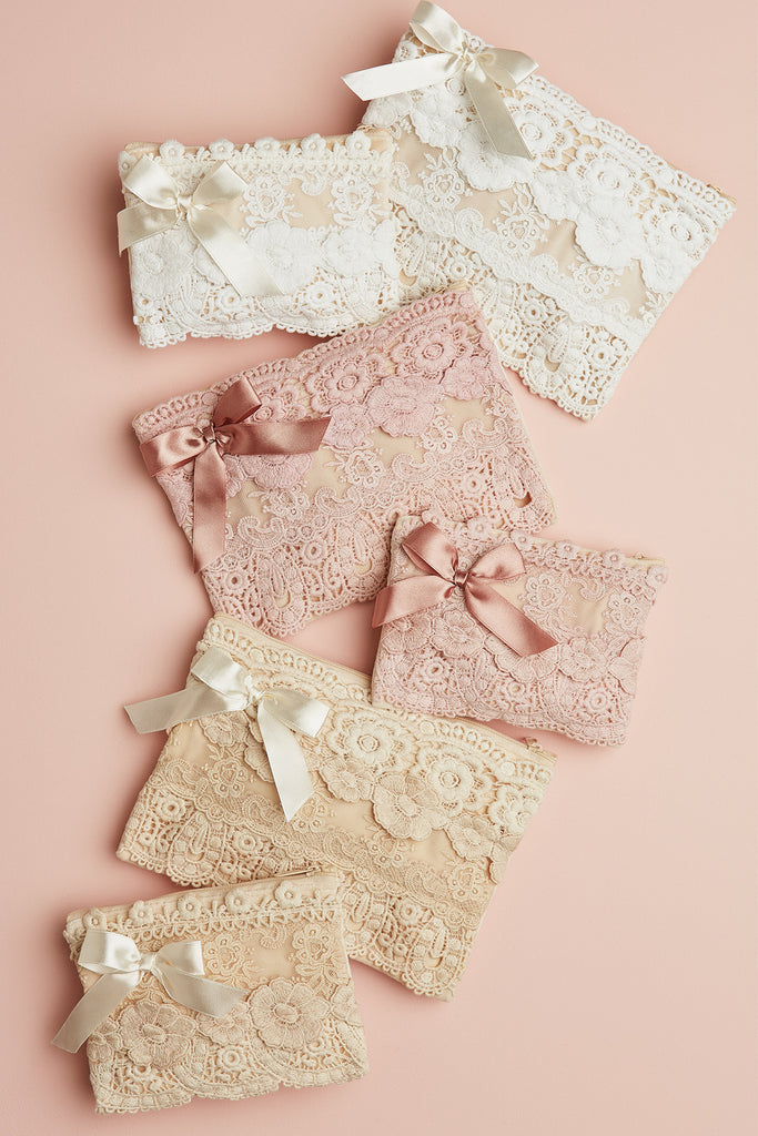Large Lace zip bags